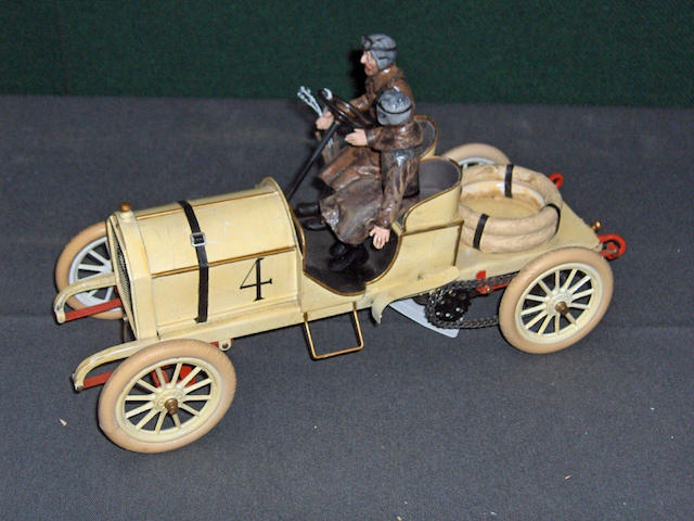 A limited edition scratchbuilt scale model of the 1903 Gordon Bennett winning Mercedes by Veteran an Vintage models,