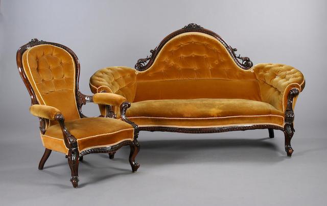 A Victorian 10 piece parlour suite,