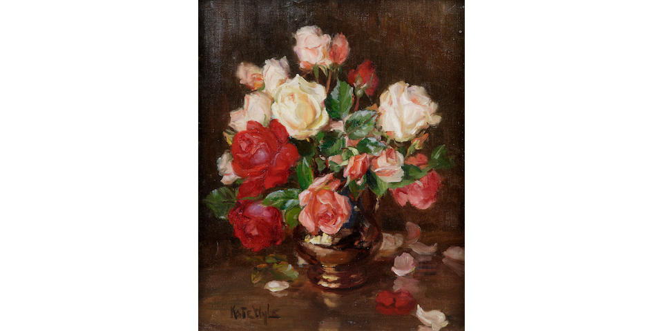 Kate Wylie (1877-1941) Roses 46 x 37cm (18 x 14 1/2ins)