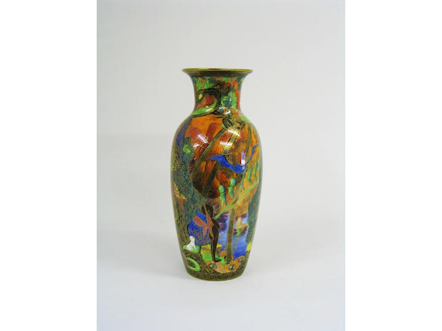 A good Wedgwood Fairyland lustre vase