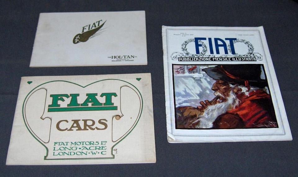 Two Edwardian FIAT sales brochures,