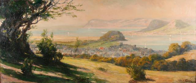 Robert Fowler (1853 - 1926) Llandudno - a panoramic view, 75 x 174cm.