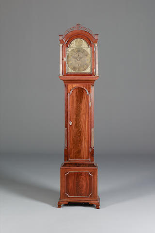 A late 18th century mahogany longcase clock Thomas Hunter Junior, London
