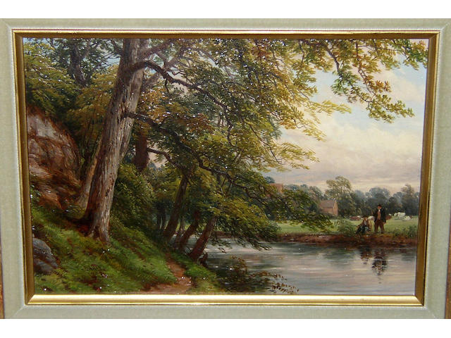 Thomas Baker of Leamington (1809-1869) British 'On the Avon',