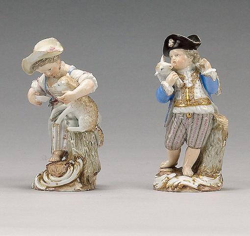 A pair of Meissen figures, circa 1870,