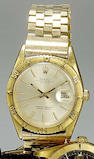 Rolex. An 18ct gold automatic calendar bracelet watch with box and papers Datejust, Ref:1625, Glasgow Import mark for 1960