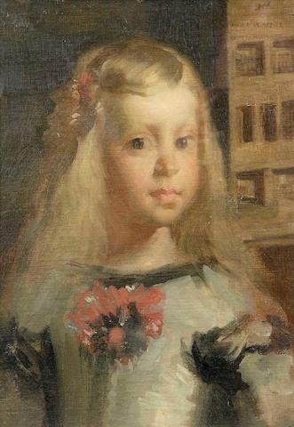 John B Souter (1890-1972) After Velasquez 35 x 24cm (13 3/4 x 9 1/2ins)