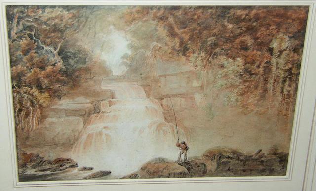 Edward Dayes (1763-1804) British 'Lower Waterfall, Rydal',