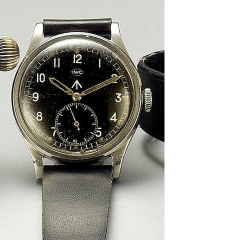 IWC. A stainless steel military issue wristwatch  'Mark 10' circa 1944