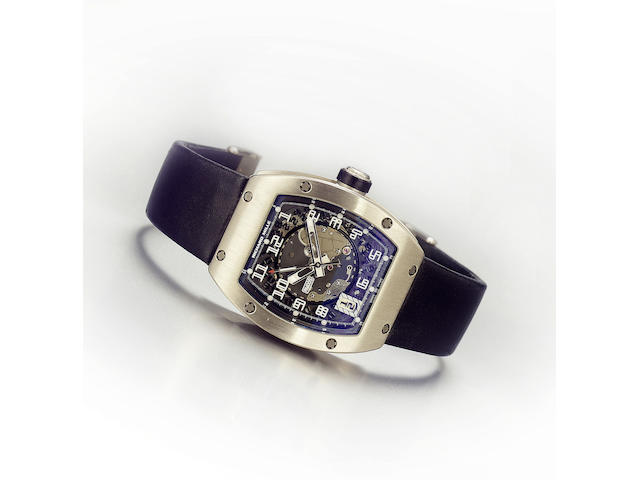 Richard Mille. A fine and rare 18ct white gold automatic calendar wristwatch RM005, No.035, Sold September 2004