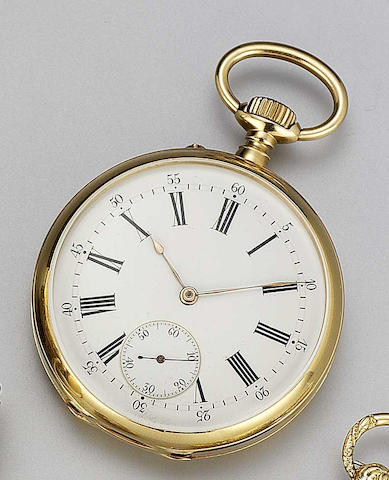 Vacheron & Constantin. An early 20th century 18ct gold open faced pocket watch Case No.154896, Movement No.259896