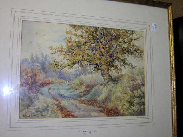 Stephen John Batchelder (1849-1932), 23.5 x 33.5cm.