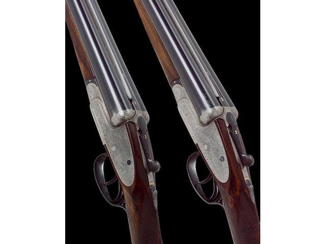 A fine pair of lightweight 12-bore 'Premiere XXV' sidelock ejector guns by E.J. Churchill, no. 4126/7