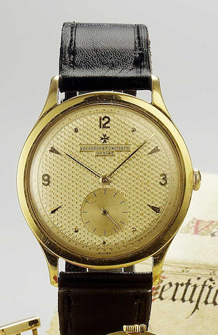 Vacheron & Constantin. A fine 18ct gold oversized wristwatch 1950s
