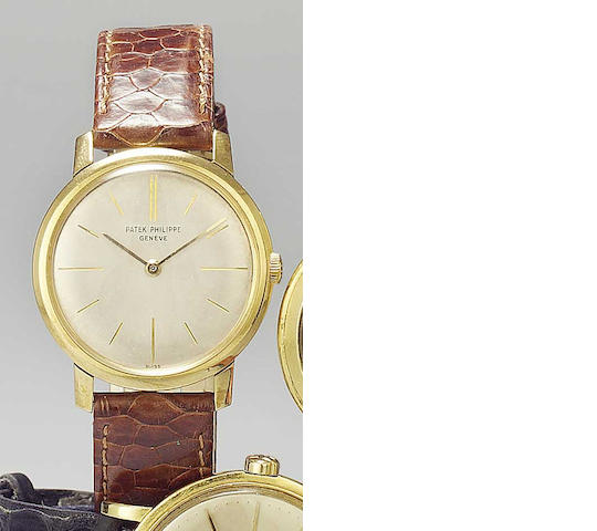 Patek Philippe. An 18ct gold manual wind wristwatch Ref:2593, Case No.2609411, Movement No.783302