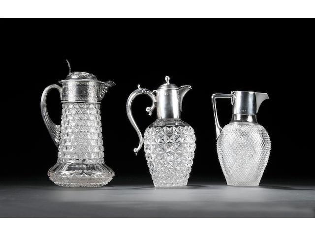 A late Victorian claret jug, by Barker Bros. Ltd, Birmingham 1898,