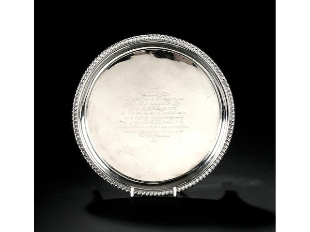 A George IV circular salver, by William Brown, London 1826,