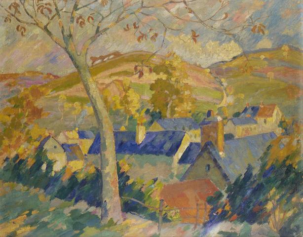Robert Antoine Pinchon (1886-1943) Paysage 72.5 x 92 cm. (28 1/2 x 36 1/4 in.)