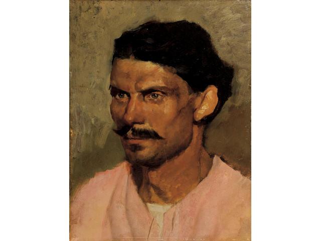 Nicholaos Gysis (1842–1901) Farmer from Tinos 40.7 x 31 cm. (16 x 12 1/4 in.)