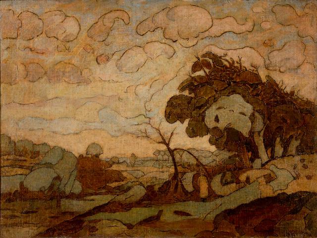 Dimitrios Litsas (1883–1952) Landscape 60 x 79.5 cm. (23 5/8 x 31 1/4 in.)