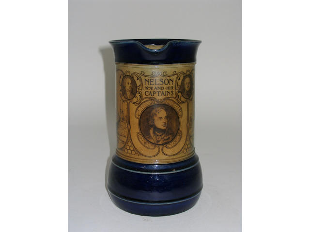 A Royal Doulton jug commemorating Admiral Nelson,