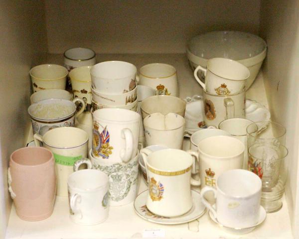 A quantity of Commemorative wares
