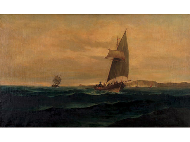 Constantinos Volanakis (1837–1907) The crossing 61 x 100 cm. (24 x 39 3/8 in.)