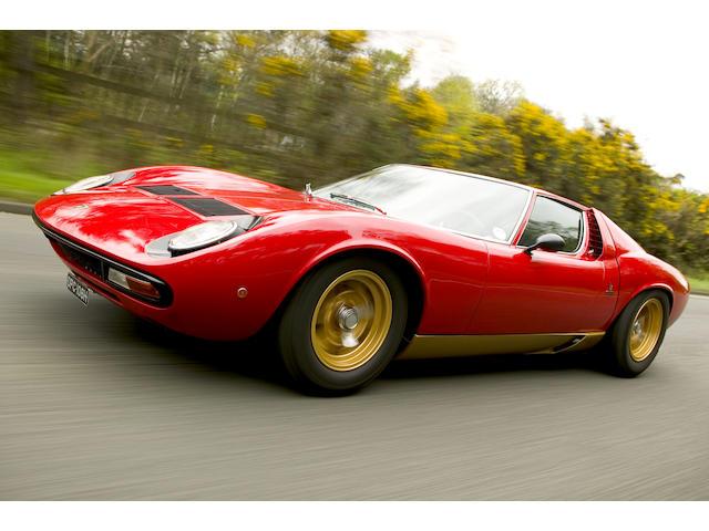 1970 Lamborghini Miura SV Coupé  Chassis no. 4443 Engine no. 30470