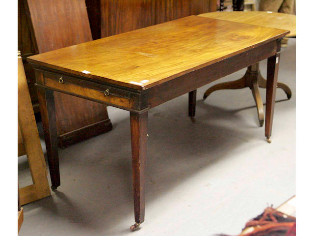An early 19th Century mahogany serving table,