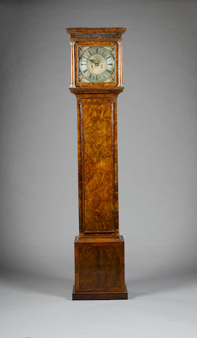 An early 18th century walnut cased longcase clock  Christopher Gould, Londini, Fecit