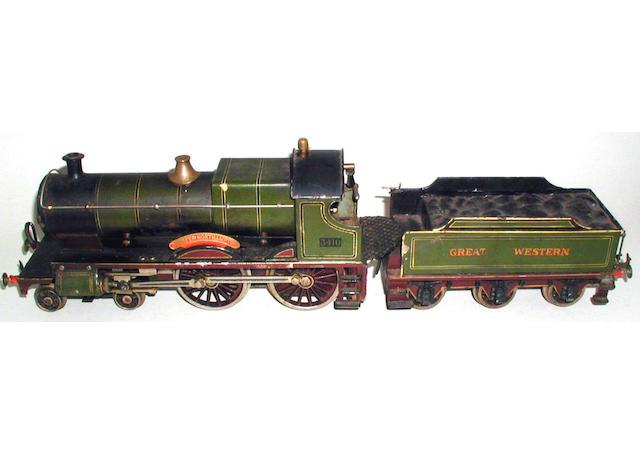 Bing for Bassett-Lowke gauge 1 live steam 4-4-0 County of Northampton 3410 and 6-wheel Great Western tender