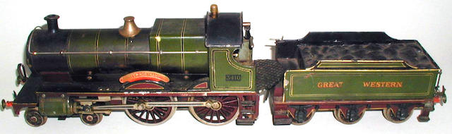 Bing for Bassett-Lowke gauge 1 live steam 4-4-0 County of Northampton 3410 and 6-wheel Great Western tender