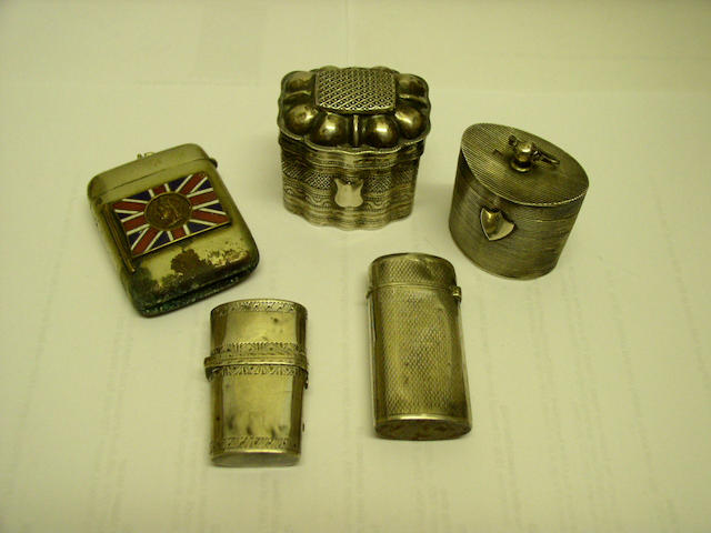 A mid nineteenth Century French vesta case bearing control marks,