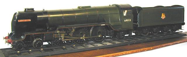Scratch built live steam 3¾in gauge 4-6-2 BR Lady Helen and 8-wheel tender