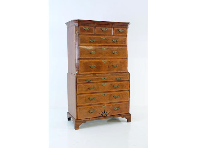 An 18th Century walnut tallboy