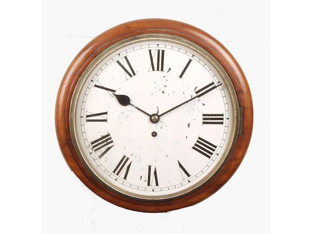 A 19th Century mahogany cased single fusee wall clock