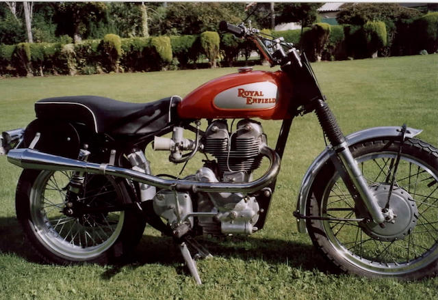 1963 Royal Enfield 499cc Fury  Frame no. 16312 Engine no. 3533