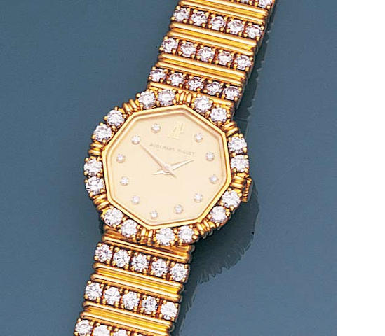 A lady's diamond wristwatch,, by Audemars Piguet