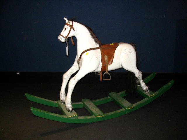 Carved wooden Rocking horse, English 1950's