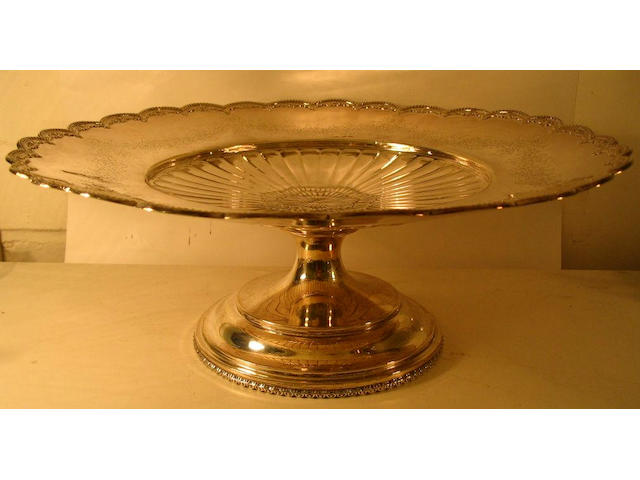 An American cake stand The Mauser Manufacturing Company, New York, sponsors mark H.F., London import marks 1932,
