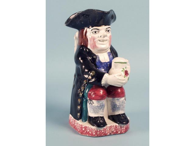 A Yorkshire or Portobello toby jug circa 1830,
