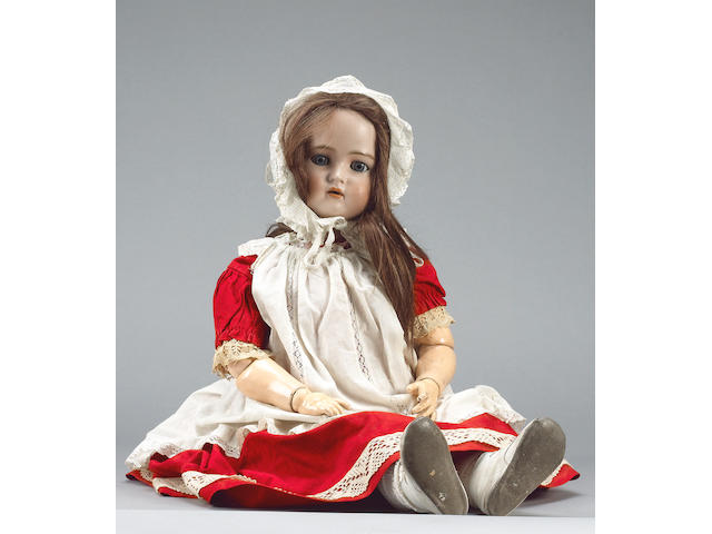Large Simon & Halbig/K&R bisque head doll, circa 1910