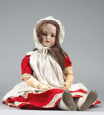Large Simon & Halbig/K&R bisque head doll, circa 1910