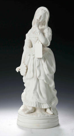 A parian figure of a 19th century lady,
