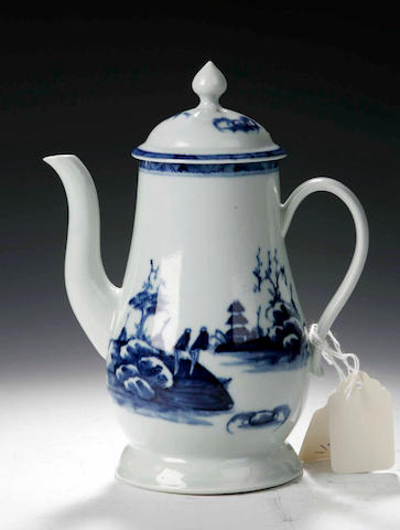 A Richard Chaffers & Co., coffee pot and cover, circa 1760,