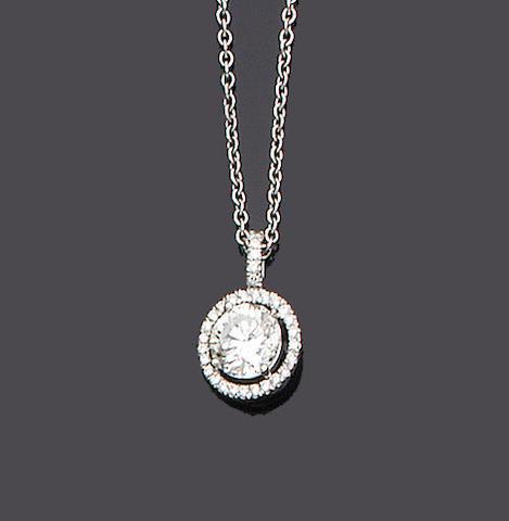 A diamond-set necklace,