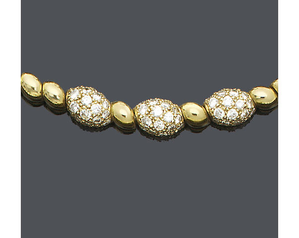 A diamond-set necklace, by Van Cleef and Arpels