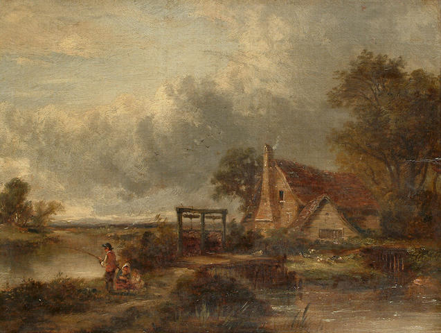 George Barrell Willcock (British, 1811-1852) View on the Stour, 29.3 x 38cm (11 1/2 x 14 7/8in)
