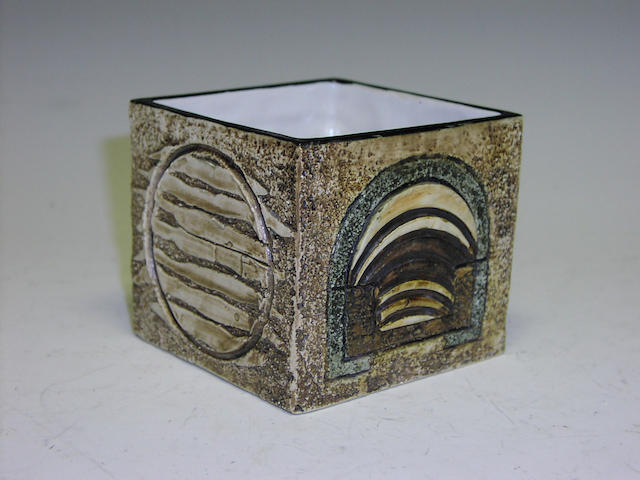 A small Troika planter by Jane Fitzgerald,