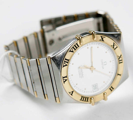 A gentleman's stainless steel automatic Constellation wristwatch, by Omega